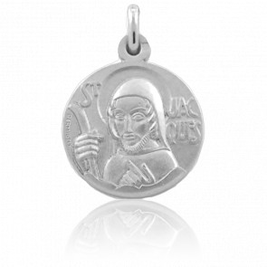 Medalla Santiago 18 mm Plata
