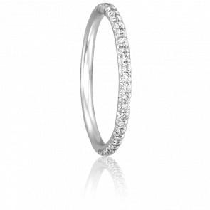 Alianza Paquita Oro Blanco 18K & Diamantes