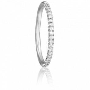 Alianza Coppélia Oro Blanco 18K & Diamantes