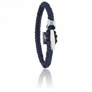 Pulsera Cordón Marino Azul Marino & Acero 6mm