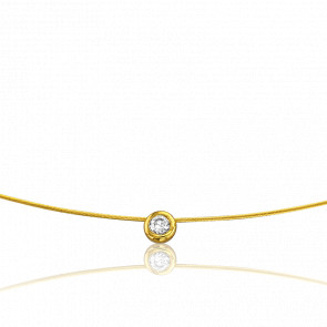 Collar Sonia 50 cm Oro Amarillo 18K y Solitario 0,06 ct