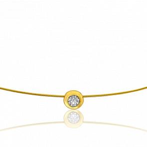 Collar Sonia 50 cm Oro Amarillo 18K y Solitario 0,10 ct