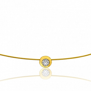 Collar Sonia 42 cm Oro Amarillo 18K & Diamante Solitario