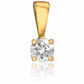 Colgante 4 Garras Oro Amarillo & Diamante 0,04 cts