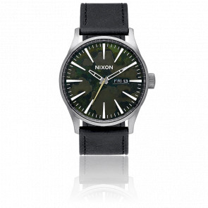 Reloj The Sentry Leather Gris Oscuro/Verde Militar A105-2069