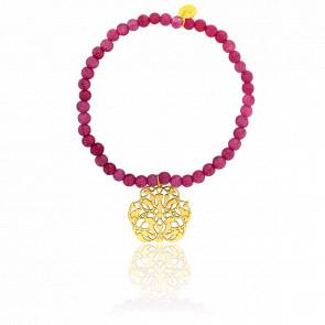 Pulsera Arabesca Oro Chapado & Perlas Serpentinas