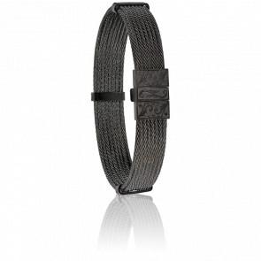Pulsera Cable Acero Negro 9mm