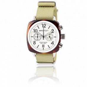 Reloj Clubmaster Chrono Date tortoise shell Blanco