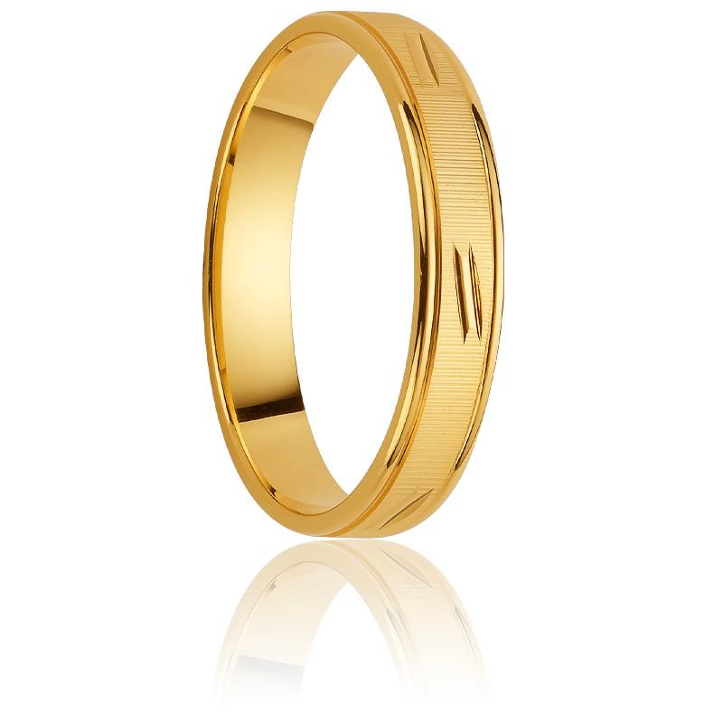 2b85debe5ab4 Alianza de oro amarillo 18k 3 mm estriada-Orest - Ocarat