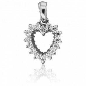 Colgante Ella Oro Blanco & Diamantes