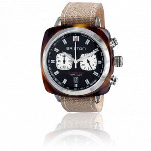 Reloj Clubmaster Sport Acetato Crono tortoise esfera negra