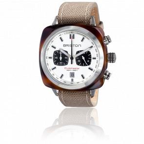 Reloj Clubmaster Sport Acetato Crono tortoise esfera blanca