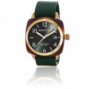 Reloj Clubmaster HMS Gold Verde Tortoise