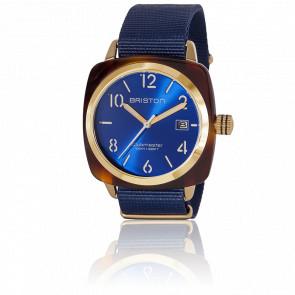 Reloj Clubmaster HMS Gold Azul Tortoise