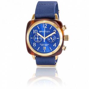 Reloj Clubmaster Chrono Gold Azul Tortoise