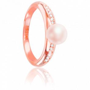 Anillo Rosalina Plata rosa y perla