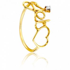 Anillo Je t'aime Oro Amarillo & Diamante