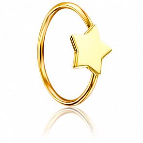 Anillo Estrella Oro Amarillo
