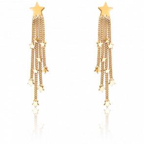 Pendientes Pendantes Estrellas Oro Amarillo