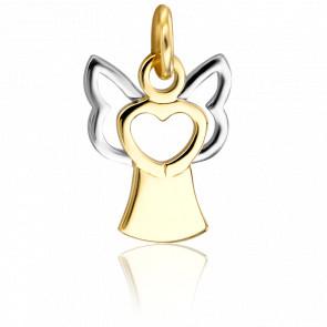 Colgante Ángel Corazón 2 Oros 18K