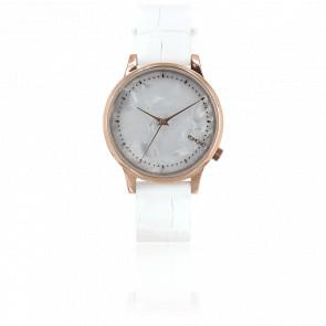 Reloj Estelle - Monte Carlo White Croc