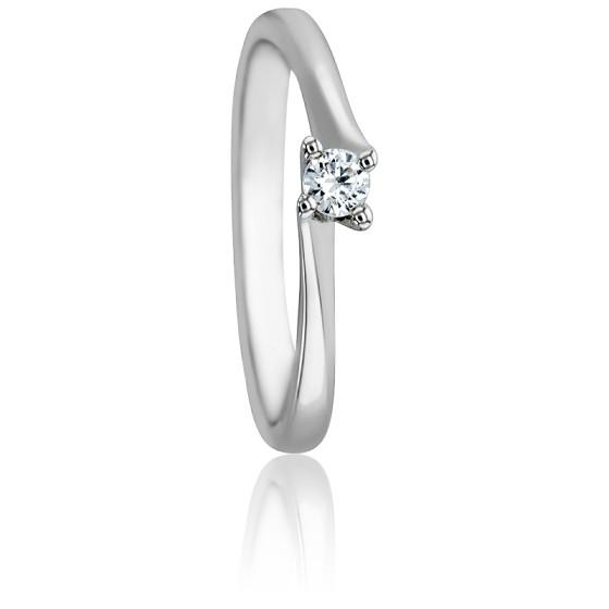 f97e1d4637bb Anillo oro blanco y diamante Asymetric - Alliantine - Ocarat