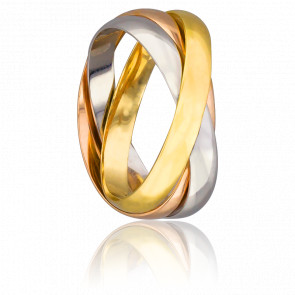 Anillo 3 Oros de 18k Finesse 3,50mm