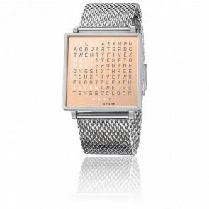 Reloj Qlocktwo W Copper