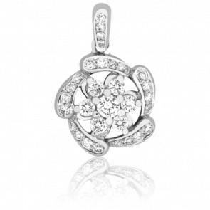 Colgante Rosa Diamantes