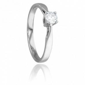 Anillo de compromiso con diamante de peso 0,23 quilates