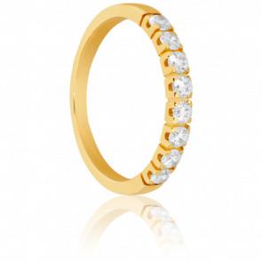 Alianza Oro Amarillo con Diamantes, Var