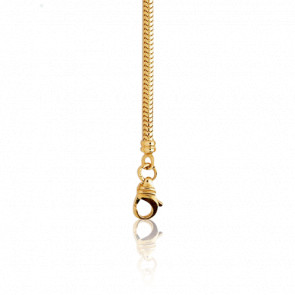 Pulsera Cadena Serpentina 19 cm Oro Amarillo