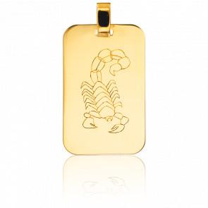 Colgante Placa G.I Escorpión Oro Amarillo 18K