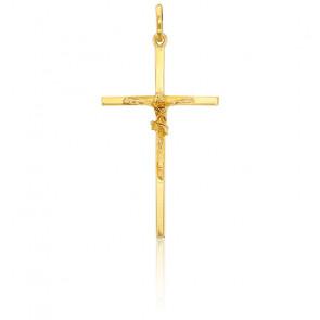 Cristo en Cruz hilo cuadrado 30 x 17 mm Oro Amarillo 9K