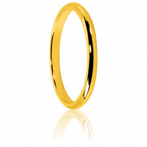 Alianza de Oro Amarillo 18K Media Caña 2 mm