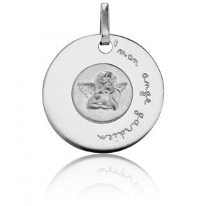 Medalla Mi Ángel de la Guarda Oro blanco