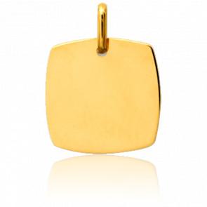 Colgante Placa Cuadrada Oro Amarillo 18 quilates