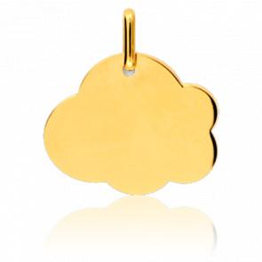 Medalla para grabar Nube MG Oro Amarillo 18K