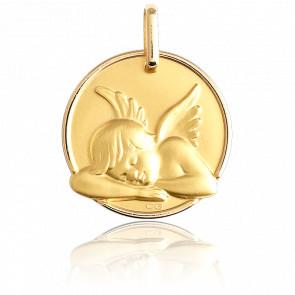 Medalla Angelote Adormecido Oro Amarillo 18K