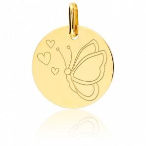 Medalla Mariposa Oro Amarillo 18K