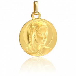 Medalla Circular Virgen de Oro Amarillo 9K