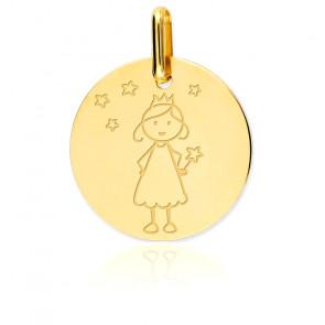 Medalla Hada Oro Amarillo 18K
