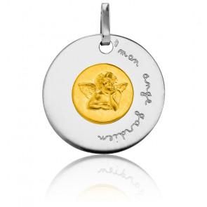 Medalla Mi Ángel de la Guarda Bicolor