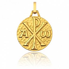 Medalla Crismón Oro Amarillo 9k