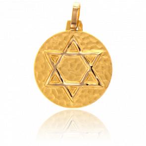 Medalla Estrella de David Oro amarillo