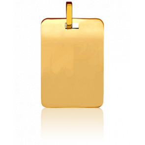 Placa de Oro Amarillo