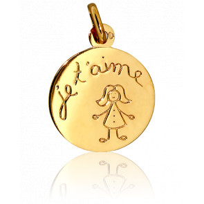 Medalla Je t'Aime Niña