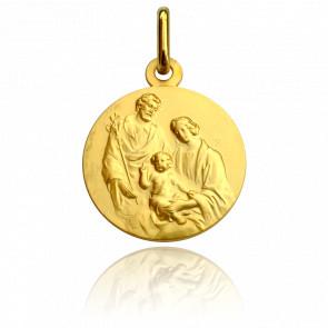 Medalla Santa Familia 18 kt