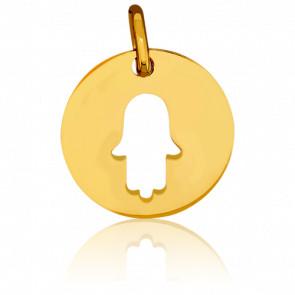 Medalla Mano de Fátima facetada
