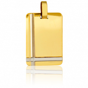 Medalla Placa Oro amarillo